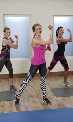 20 MIN FULL BODY: This video is the perfect at-home workout. Trainer Christine Bullock leads this Class FitSugar, and she makes sure that every move works multiple muscle groups to help you feel strong, sexy, and sculpted to hit your Summer sweet spot. Body Fitness, Fitness Diet, Fitness Motivation, Health Fitness, Shred Fitness, Video Sport, Gym Video, Fitness Workouts, At Home Workouts