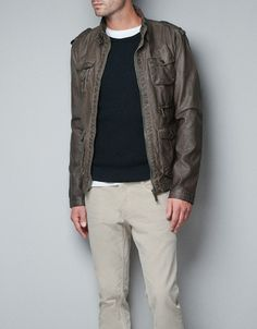 1fb4f11701 KHAKI JACKET WITH POCKETS - Jackets - Man - ZARA United States Cazadoras Hombre  Zara