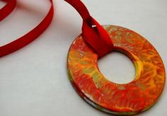 Mother's Day Gifts Kids Can Make — Hand Painted Pendants made from washer, acrylic paint and clear nail polish :-)