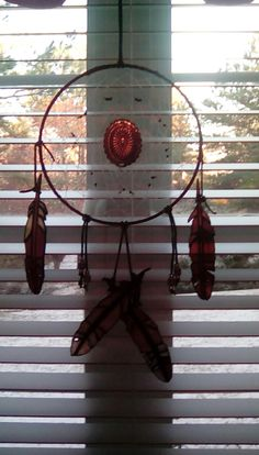 dreamcatcher with stained glass fathers