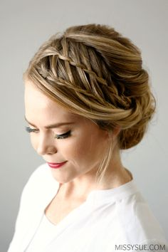 Double Waterfall Braids Updo