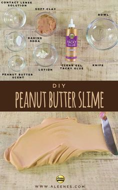 DIY Peanut Butter Slime  #Slime #SlimeKids #DIYSlime#SlimeRecipe #NontoxicSlime#TackyGlue #Aleenes#AleenesAdhesives Butter Slime Recipe, Easy Slime Recipe, Money Birthday Cake, Slime For Kids, Diy Slime, Recipe Using, Baking Soda, Cravings, Peanut Butter