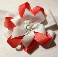Boutique Double layer Twisted Hairbow . Custom made Hairbow - http://stores.ebay.com/smilesmagicalhairbows