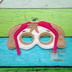Skye  Felt Mask Embroidery Design  5x7 Hoop or by GracefullyGeeky, $6.00