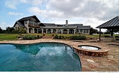 Price:  $6.94 million Acres:  1,664 At 7,300 square feet, the main house on Cow Creek Bayou Ranch, Texas was built in 2006, overlooking a swimming pool and a 15-acre lake. It features stone floors, arched windows and beamed ceilings. Located just 30 minutes outside of Waco, the property also features a working cattle ranch with horse and hay barns, a manager's office and four more homes for guests and staff.