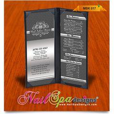 Menu Book Template For Nail Salon Visit Www Nailspadesigns Catalog More Spa Printing Templates