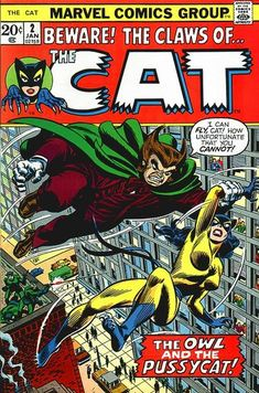 The Cat 1973 Marvel Comics From my collection Marvel Comic Books, Marvel Characters, Marvel Heroes, Comic Books Art, Comic Art, Marvel Women, Book Cover Art, Comic Book Covers, Book Art