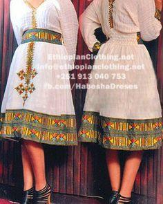 Ethiopian dress, with coptic cross detail