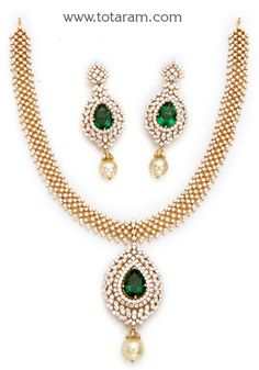 Simple Diamond Sets with Fancy Studs Fancy Diamond and India jewelry