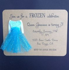 Frozen Elsa with Glitter Tulle Snow Queen Dress by SimpleandPosh