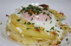 Bacalao con patatas y huevo al horno [#Asaltablogs] | Azafranes y Canelas