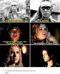 Can we just admire the fact that they basically said Clarke loves Bellamy?