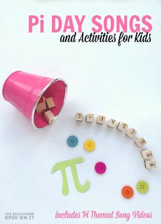 Pi Day is here! Are you ready to celebrate with your child or class? Here are some fun Pi Day songs to watch together. Plus a few activities & crafts too! Math Activities For Kids, Spring Activities, Fun Math, Educational Activities, Kids Learning, Math Art, Preschool Math, Preschool Ideas, Early Learning