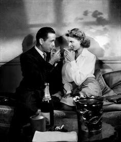 With Ingrid Bergman in Casablanca