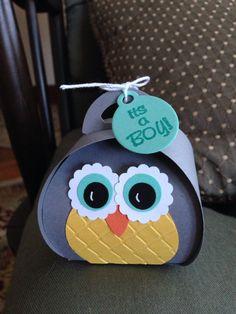 Owl curvy keepsake box original design by Diane Beaudoin