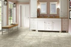 Learn more about Armstrong Naples Marble - Ocher and order a sample or find a flooring store near you. Luxury Vinyl Flooring, Luxury Vinyl Tile, Vanity Set Up, Armstrong Flooring, Flooring Store, Brown Bathroom, Updated Kitchen, Kitchen Updates, Kitchen Ideas
