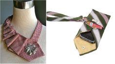 Riciclo creativo: perchè non usare le cravatte?