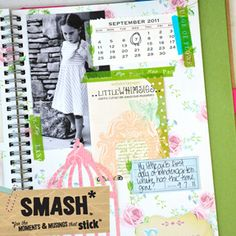 Smash books!  The latest in scrapbooking/art journaling.  I LOVE them!!