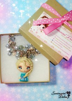 Disney Frozen Jewelry, Frozen Elsa Necklace, Disney Frozen Necklace, Kawaii Charms, Elsa and Anna Frozen, Disney Princess Jewelry on Etsy, $40.00