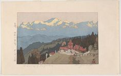 Morning of Darjeeling, from the series, India and Southeast Asia, by Yoshida Hiroshi, 1931.(Freer Gallery of Art and Arthur M Sackler Gallery)
