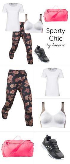 Sport-Outfit by bonprix:Ttrendiges Muster kombiniert mit schlichtem Sport-Shirt.