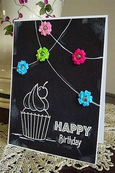 inspired by mypaperjourney's card!  #amusestudio #chalkboard #heycupcake