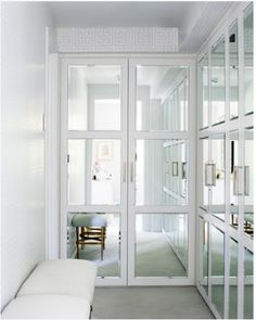 love it! so simple yet so dramatic on closet doors