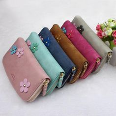 Cheap wallet, Buy Quality wallet lock pick set directly from China wallet red Suppliers: 2016 Fashion Women Wallets Flower Small Fresh Lady Long Wallet Famous Designer Money Wallet Women's purses carteras mujer Hot