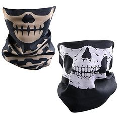 Lmeno Skull face masks bandanna ghost head balaclava tubular scarf death hats anti dust tube resistant wind protection for motorcycling hiking camping ski climbing fishing hunting snowboarding jogging scooter bike multifunction brown types) Snowboard, Cycling Hat, Skull Face Mask, Shutter Speed, Neck Warmer, Headbands, Cap, Photoshoot, Amazon