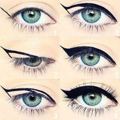 Tolle Eyeliner-Tipps für Make-up-Junkies Eyeliner Hacks, How To Apply Eyeliner, Mascara Tricks, Eyeliner Ideas, Eyeliner Styles, Thin Eyeliner, Pencil Eyeliner, Simple Eyeliner, Eyeliner Brush