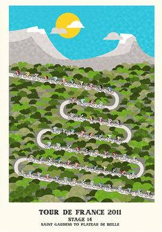 Tour de France posters @Crayonfire love how they match the terrain