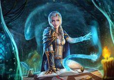 """Jaina Proudmoore"" by Anton Shakhov Dnd Characters, Fantasy Characters, Female Characters, World Of Warcraft Characters, Fantasy Character Design, Character Inspiration, Character Art, Wow Mage, Jaina Proudmoore"