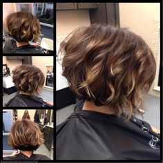 Inspiration by Staiy Tran from Boss Studios. Haircut For Thick Hair, Cute Hairstyles For Short Hair, Curly Bob Hairstyles, Pretty Hairstyles, Curly Hair Styles, Short Hair With Layers, Short Hair Cuts, Short Platinum Blonde Hair, Brunette Hair