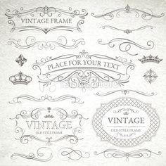 vintage frames Royalty Free Stock Vector Art Illustration