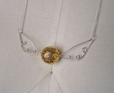 diy harry potter necklace wire jewelry. Maybe we can do something similar but have the kids tie twine for the chain?