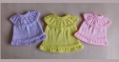 This sweet little dress is now in three premature baby sizes ~ small, medium and. This sweet little dress is now in three premature baby sizes ~ small, medium and… , Knitted Doll Patterns, Baby Dress Patterns, Baby Clothes Patterns, Baby Doll Clothes, Crochet Baby Clothes, Crochet Patterns, Preemie Clothes, Crochet Dresses, Crochet Toys