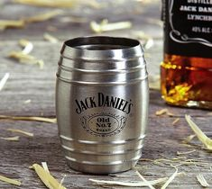 If you've seen one shot glass, you've seen them all…think again! This single barrel shot glass is an officially licensed Jack Daniel's product and molded into a miniature scale model of the actual barrels used to age the family Jack Daniel's whiskey in the Tennessee distillery.