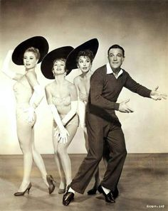Gene Kelly, Mitzi Gaynor, Kay Kendall and Taina Elg in 'Les Girls', 1957.