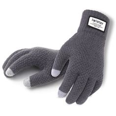 8e7cd5fd2 Winter Autumn Men Knitted Gloves Touch Screen High Quality Male Thicken  Warm Wool Cashmere Solid Gloves
