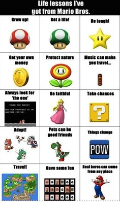 Life Lessons from Super Mario Brothers -