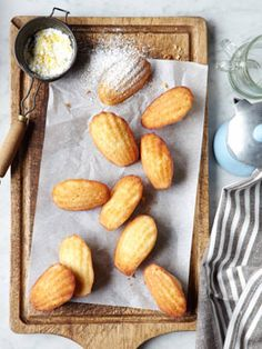 """Madeleines.  Dusted with powdered or lemon sugar.  I'm going to go ahead and call an exception to the """"don't buy a kitchen item that can only make one thing"""" rule."""
