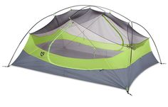 Ultralight backpacking tents from Nemo... This 3 person is 4LB.  The same company also makes air supports.