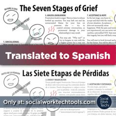 socialworktech:  Recently posted on Social Work Tech is a Spanish Translation of a Social Work Tech Tool I made several years ago for my clients. Las Siete Etapas de Pérdidas: The Seven Stages of GriefI know there are a lot of folks on here that work with monolingual Spanish Speakers and I know that resources are sparse unless you make them… Spread the word :)