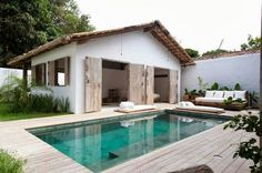 Perfect pool and cottage. Casa Lola in Trancoso,, Brazil.