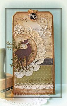 Reindeer Tag by Beate - Cards and Paper Crafts at Splitcoaststampers