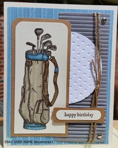 Handmade Birthday card using Fore! from Stampin' Up Handmade by Quinn eBay user name decamerax3