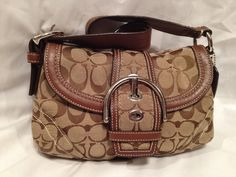 Coach Signature Flap Bag. Starting at $30 on Tophatter.com!