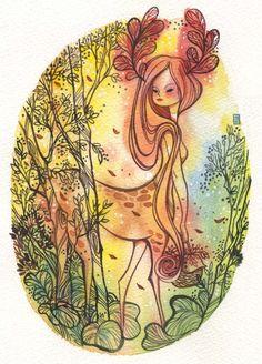 http://alinanimation.blogspot.com/2011/08/mermaid-and-deer-centaur.html