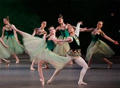 "The ""Emeralds"" section in Balanchine's Jewels"