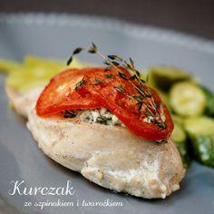 kurczak ze szpinakiem i twarożkiem (1) Polish Recipes, Polish Food, Coleslaw, Bruschetta, Good Food, Curry, Dinner Recipes, Food And Drink, Lunch
